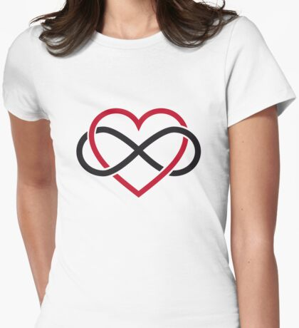 Infinity heart, never ending love Womens Fitted T-Shirt
