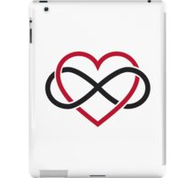 Infinity heart, never ending love iPad Case/Skin