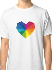 colorful geometric heart Classic T-Shirt