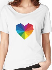 colorful geometric heart Women's Relaxed Fit T-Shirt
