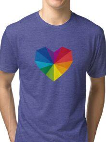 colorful geometric heart Tri-blend T-Shirt