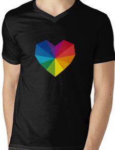 colorful geometric heart Mens V-Neck T-Shirt