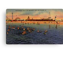 Vintage Pontchartrain Beach Artwork  Canvas Print