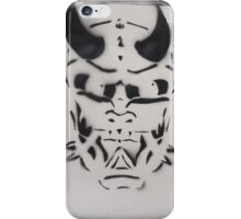 Spray painting of a Japanese Oni mask iPhone Case/Skin