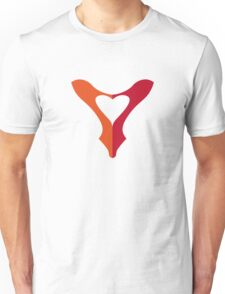 shoe love, red shoe heart Unisex T-Shirt