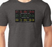 BTTF - Back To The Future - Time Travel Display Dashboard Unisex T-Shirt