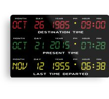 BTTF - Back To The Future - Time Travel Display Dashboard Metal Print