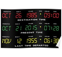 BTTF - Back To The Future - Time Travel Display Dashboard Poster