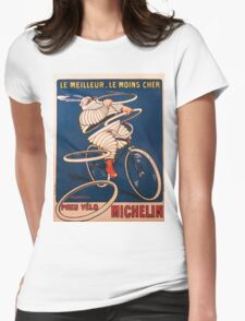 Vintage poster - Michelin Womens Fitted T-Shirt