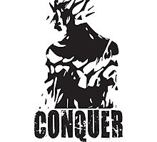 CONQUER (Ripped Back) Photographic Print
