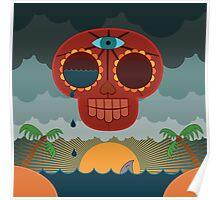 Sugar Skull Storm God Poster