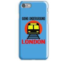 GOING UNDERGROUND-LONDON iPhone Case/Skin