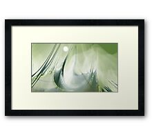 Ship shape. Abstract Framed Print