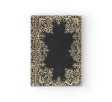 Black and Gold Filigree Hardcover Journal