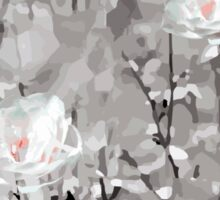 The Frost - Grey Abstract Flowers Sticker