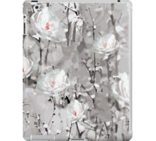 The Frost - Grey Abstract Flowers iPad Case/Skin