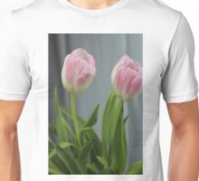 Twin Pink Tulips Unisex T-Shirt