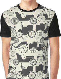 Stylish pattern with vintage cars Graphic T-Shirt