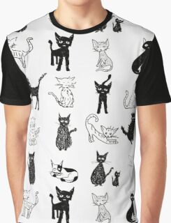 Cats, cats, cats. Graphic T-Shirt