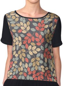 Pattern with autumn leaves Chiffon Top