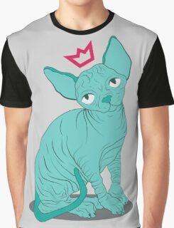 Hairless Royal Cat Graphic T-Shirt