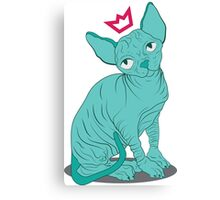 Hairless Royal Cat Canvas Print