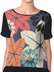 Abstract flowers Chiffon Top