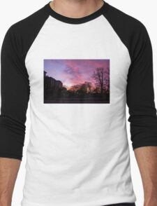 Sunset at Boston Common 3/1/16 Men's Baseball ¾ T-Shirt
