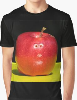 RED APPLE FACE Graphic T-Shirt