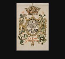 'Book Plate of Alphons XIII' by Alexandre de Riquer (Reproduction) Unisex T-Shirt