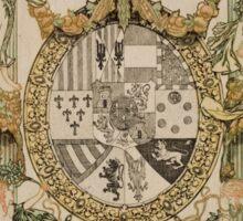 'Book Plate of Alphons XIII' by Alexandre de Riquer (Reproduction) Sticker