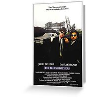 The Blues Brother Movie Poster Greeting Card