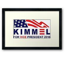 vote jimmy kimmel for vice president Framed Print