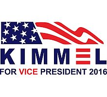 vote jimmy kimmel for vice president Photographic Print