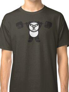 Cute Weightlifting Panda Bear (Overhead Press) Classic T-Shirt