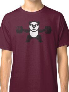 Cute Weightlifting Panda Bear (Squat) Classic T-Shirt