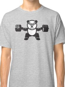 Cute Weightlifting Panda Bear (Squat) Classic T-Shirt