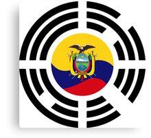 Korean Ecuadorian Multinational Patriot Flag Series Canvas Print