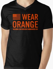 wear orange Mens V-Neck T-Shirt