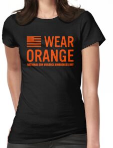 wear orange Womens Fitted T-Shirt