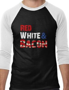 Red White and Bacon Men's Baseball ¾ T-Shirt