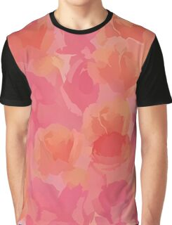 Soft Rose Bouquet Abstract Graphic T-Shirt