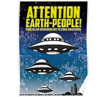 Attention People Of Earth Poster