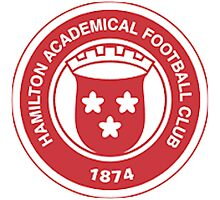 Hamilton Academical FC Badge - Scottish Premier League Photographic Print