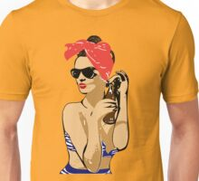 Pin Up Brunette Unisex T-Shirt
