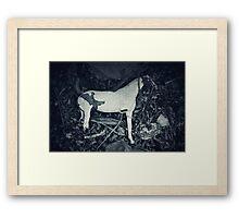 Crocked Horse Framed Print
