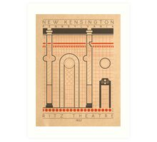 Ritz Theatre - 1922 (Orange) Art Print