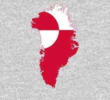 Flag Map of Greenland  Unisex T-Shirt