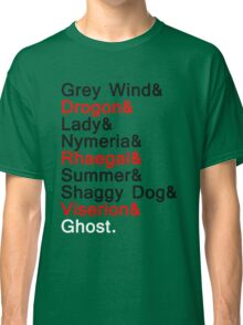 The Direwolves and The Dragons Classic T-Shirt