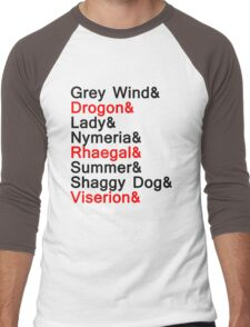 The Direwolves and The Dragons Men's Baseball ¾ T-Shirt